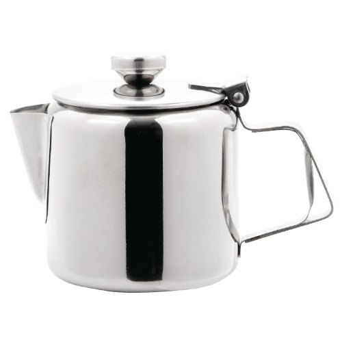 Olympia Concorde Tea Pot Stainless Steel 12oz Infuser Nisbets 10003
