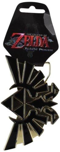 Nintendo Zelda Black and Gold Logo Belt Buckle