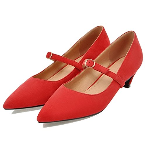 Rouge Smilice Pointe Femme Fine Synthtique UYC4CPwnq