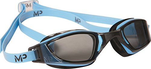 MP Michael Phelps XCEED Swimming Goggles, Smoke Lens, Blue/Black - With Lenses Swimming Goggles