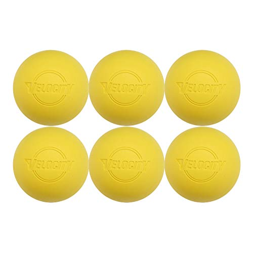 6 Pack of Velocity Lacrosse Balls. - Color Yellow.