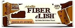 NuGo Fiber D\'lish, Chocolate Brownie, 1.6 Ounce Bar,(Pack of 16)