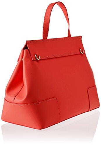 Chicca Borse 8697, Borsa a Spalla Donna, 38x29x18 cm (W x H x L) Rosso (Red)