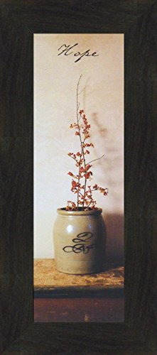 Hope by Billy Jacobs 10x22 Primitive Photography Antique Jug Crock Folk Art Inspirational Décor Framed Print Picture (2
