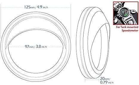"5/""Chrome Visor Speedometer Gauge Bezel Cover Trim Ring For Harley Touring Fatboy"