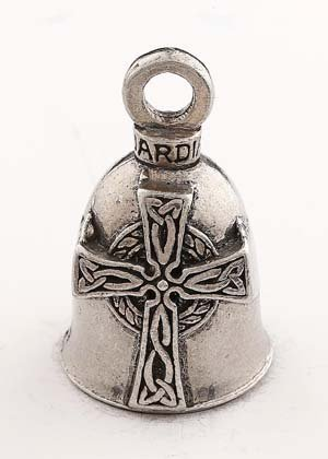 CELTIC CROSS GUARDIAN BIKER BELL WITH -