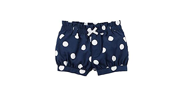 Carters Baby Girls Polka Dot Twill Shorts 12 Months Blue