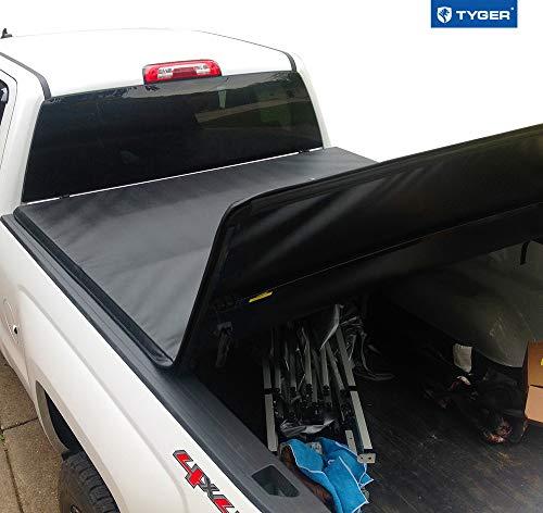 Tyger Auto T3 Tri-Fold Truck Bed Tonneau Cover TG-BC3C1007 Works with 2014-2019 Chevy Silverado/GMC Sierra 1500; 2015-2018 Silverado Sierra 2500 3500 HD | Fleetside 6.5' Bed | w/o Utility Track
