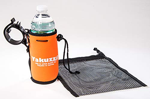 Yakuzzi Kayak Drink/Cup Holder, Accessories for Kayaks and Canoes (Orange)
