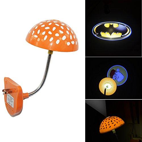Batman badge shield logo Night Bedroom Children room bar hotel Mushroom Ceiling roof LED logo shadow projection projector light sleeping lamp Infrared Sensor