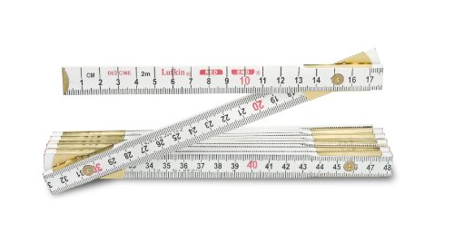 Lufkin 062CME 2m 6-Feet by 5/8-Inch Metric and English Wood Rule Red (Lufkin Folding Rule)