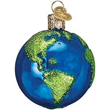 Old World Christmas Planet Earth World Globe Holiday Ornament Glass - Amazon.com: Old World Christmas Planet Earth World Globe Holiday