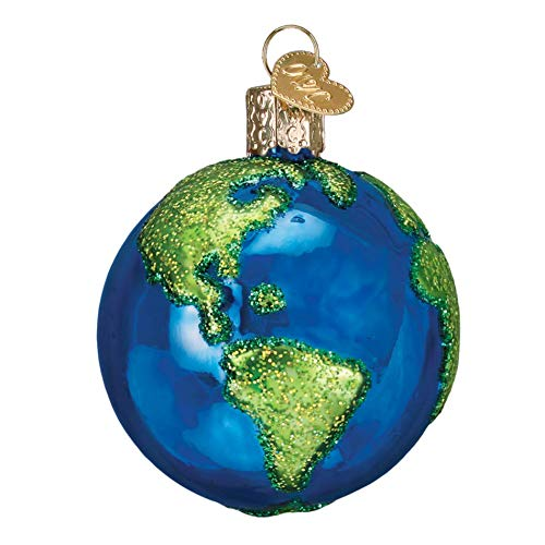 Old World Christmas Planet Earth World Globe Holiday Ornament Glass ()
