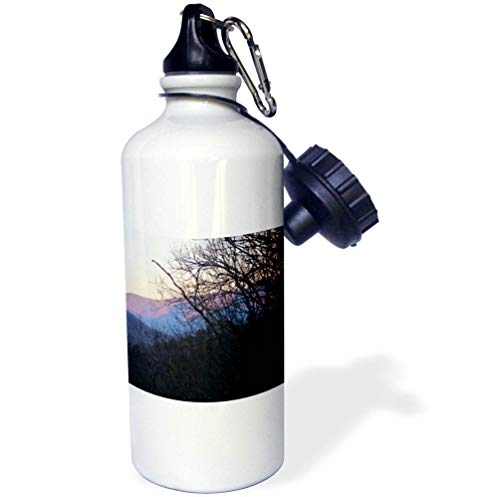 3dRose WhiteOaks Photography and Artwork - Mountains - North Carolina Mountains is a Photo of Early Morning in The Mountains - 21 oz Sports Water Bottle (wb_265358_1)