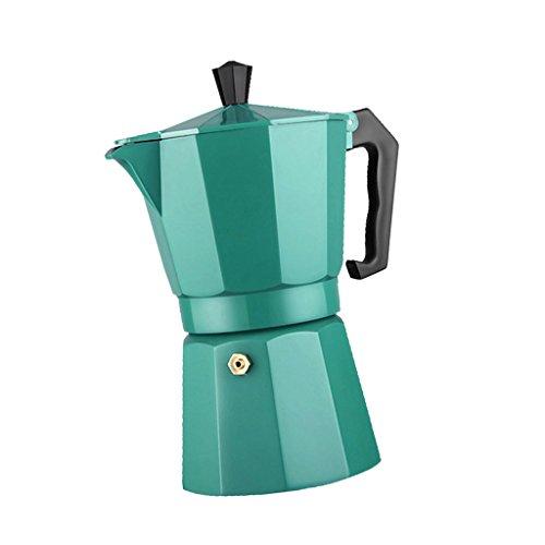 MonkeyJack HANDMADE Moka Pot Aluminum Coffee Maker Espresso Percolator Cappuccino 240ML - Green, 9.2x11x20cm
