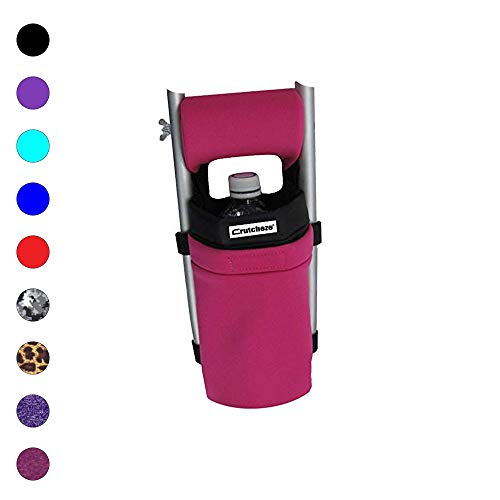 Crutcheze Sport Pink Crutch Bag, Pouch, Pocket Designer Fashion Accessories for Underarm Crutches Made in USA