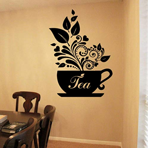 lxwrnv Teacup Breakfast Dinner Biscuit Cake Coffee Kitchen Wall Sticker Vinyl Home Decor Applique Mural Wallpaper 57 X 79Cm