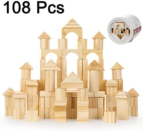 RJJBYY Jenga Classic Game, 108 Piezas Pieza Jenga Block Family Game/Tower Building Tower Stacking Juego De Estrategia/Bloques De Construcción: Amazon.es: Hogar