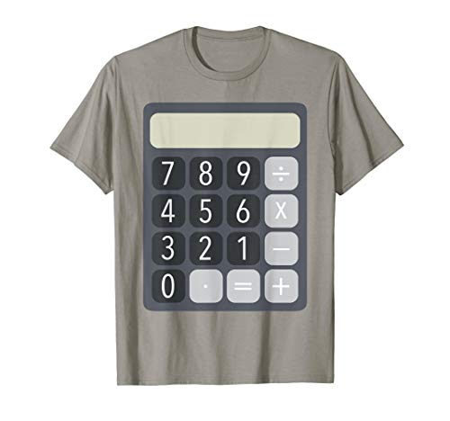 Human Calculator Costumes - Calculator costume funny t-shirt for