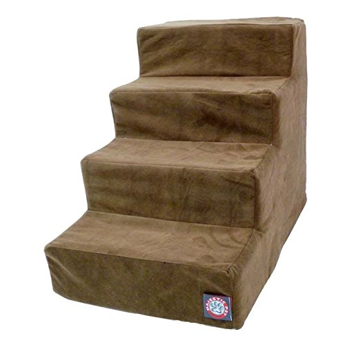 Majestic Pet 4 Step Suede Dog Stairs Brown