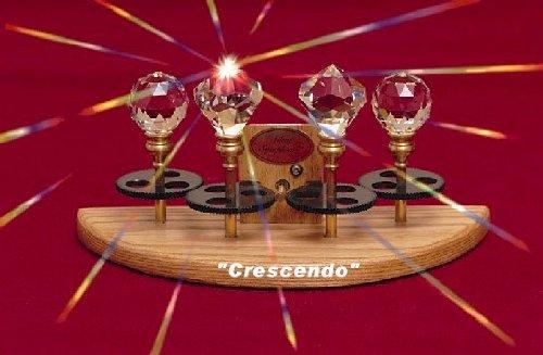Silent Symphony Solar Spinning Crystal Crescendo Quad Crystal Model by Silent Symphony
