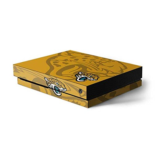 Skinit NFL Jacksonville Jaguars Xbox One X Console Skin - Jacksonville Jaguars Double Vision Design - Ultra Thin, Lightweight Vinyl Decal Protection
