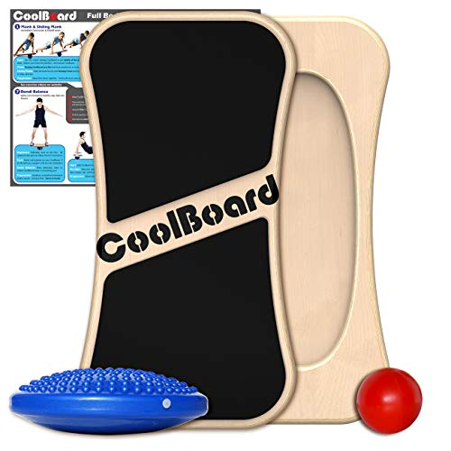 CoolBoard 2in1 - 3D Balance Board/Core Trainer & Superior Wobble Board - Medium