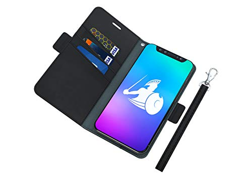 DefenderShield Universal Cell Phone EMF Radiation Shield & RFID Blocker - Detachable Magnetic Wallet Case w/Wrist Strap - Anti Cell Phone Radiation Protection (Up to 3.2' x 6.2' Phones)