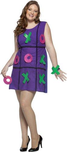 Rasta Imposta Plus-Size Tic Tac Toe Dress, Purple, Plus 14-20