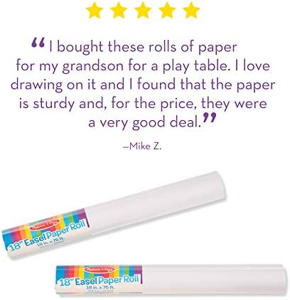 Melissa & Doug Easel Paper Rolls (Set Of 2)
