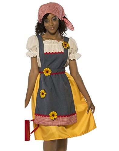 Cute Country Girl Costume (Farmer's Wife Country Girl Market Trader Farm Life Adult Womens Costume Std)