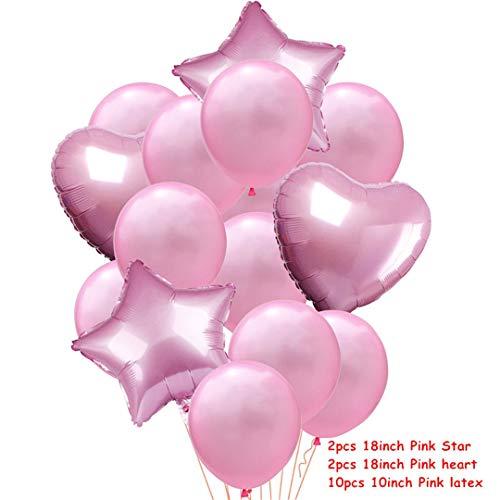 14Pcs Multi Confetti Air Balloons Happy Birthday Party Rose Gold Helium Balloon Decoration Wedding Festival Balon Party Supplies -
