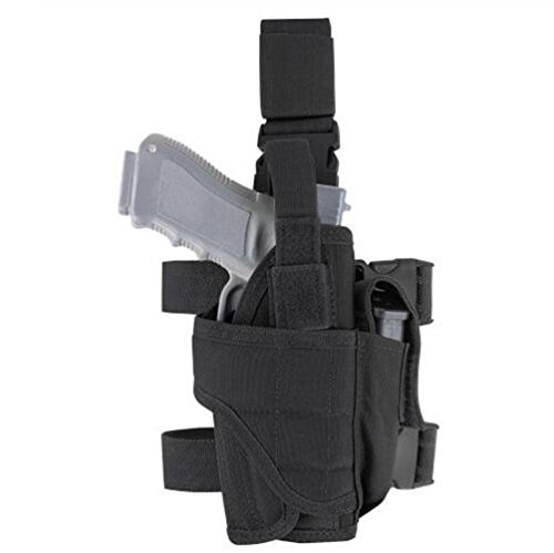 Braudel Drop Leg Holster,Adjustable Right Leg Military Tactical Gun Holster Bag for Hunting (Military Toy Guns)