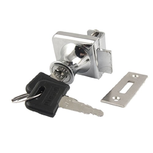 (Uxcell Glass Cabinet Single Door Cylinder Rim Security Lock with Keys)