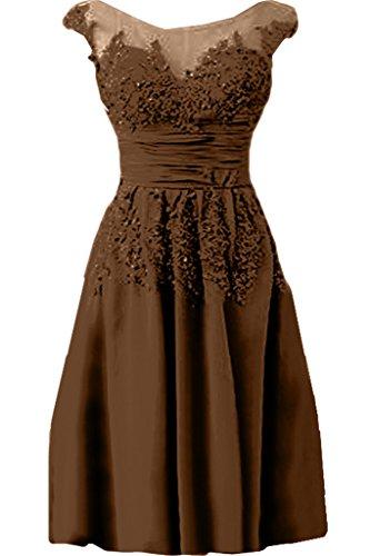 Chiffon Damen Applikation Linie Kurz Rundkragen lang Spitze Ivydressing Promkleid Elegant Schokolade A Abendkleid amp;Tuell Festkleid ZxdBwd0q