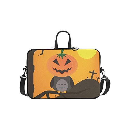 Halloween Night Full Moon Pumpkins Owl Pattern Briefcase Laptop Bag Messenger Shoulder Work Bag Crossbody Handbag for Business Travelling]()