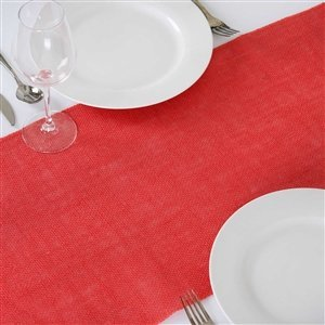 Burlap Table Runner, 14u0026quot; Wide By 108u0026quot; Long, From