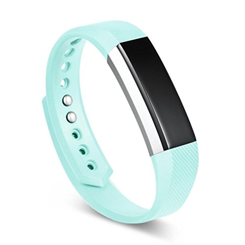 SUKEQ for Fitbit Ace for Kids Bands, Soft TPU Sports Replacement Strap Ultrathin Wristbands Accessories for Fitbit Ace, Fits for 5.5-6.7inches (Mint Green)