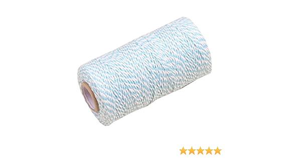 Aosilon Cuerda de algod/ón de 6 mm y 40 Metros para el Paquete de jard/ín Crape Rope Cat Scratching Rope Garden