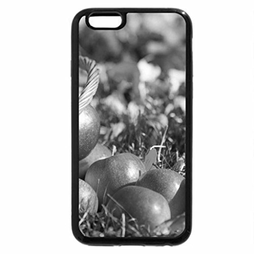 iPhone 6S Plus Case, iPhone 6 Plus Case (Black & White) - Basket with apples