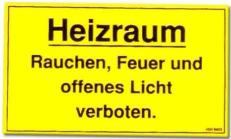 Cartel de Advertencia: Calefacción habitación... - cartel ...