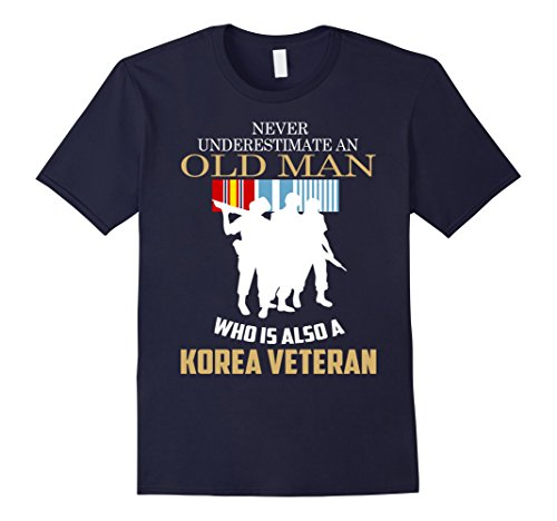 Men's Korean Veteran Shirt - Best Gift For Veteran Day 2016 Medium Navy