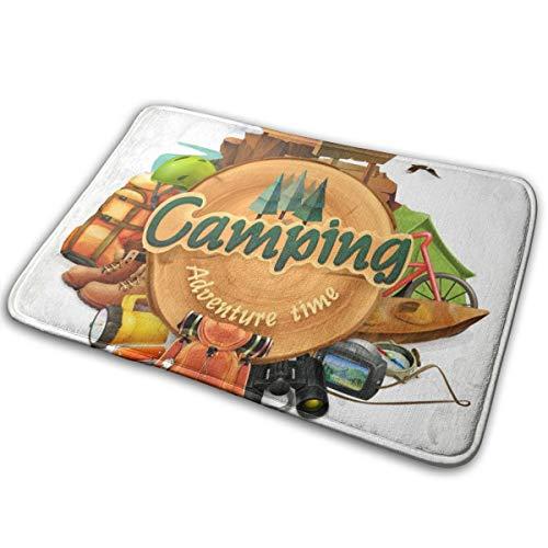 (Camping Adventure Time Doormat Entrance Rug Floor Mats Non Slip Carpet Easy Clean Door Mat 15.7
