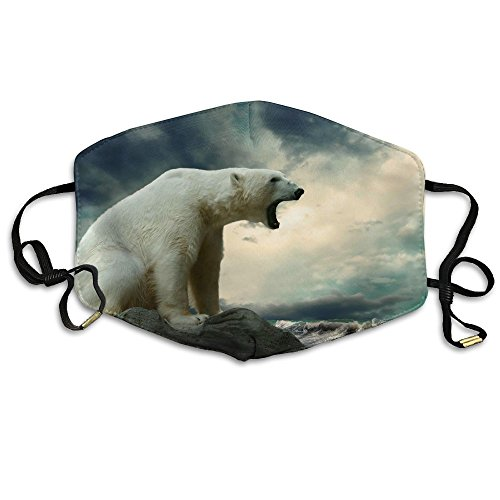 Polar Riding Bear (Roaring Polar Bear Unisex Facemask Ear-loop Dustproof Mask Riding Breathable Mask)