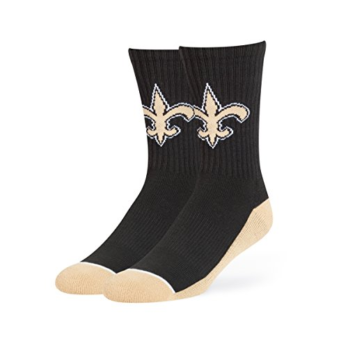 New Nfl Gear - NFL New Orleans Saints OTS Anthem Sport Sock, Black, Large
