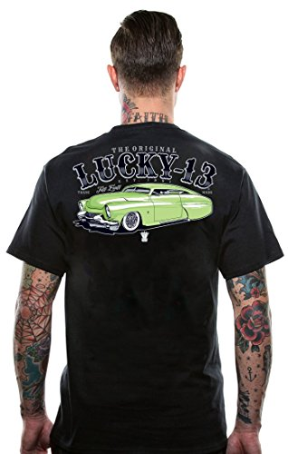 Lucky-13-Tuff-Enuff-Tee-LM1000TE-2-rockabilly-tattoo-vinatage-motor-head-art-Black