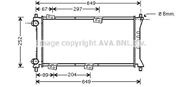 Engine Cooling Ava Quality Cooling fta2258/Radiator