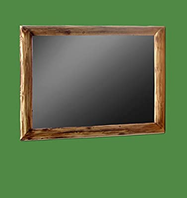 Midwest Log Furniture - Torched Cedar Log Mirror 42x36