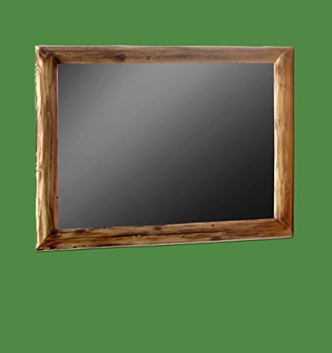 (Midwest Log Furniture - Torched Cedar Log Mirror 35x29)