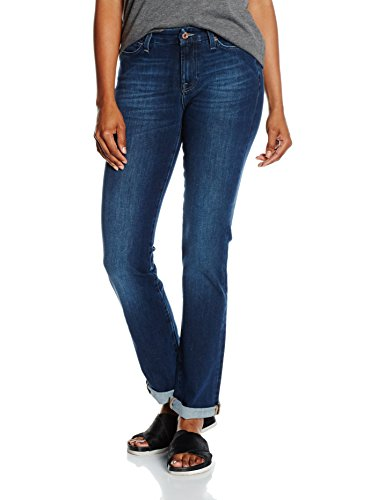 7 For All Mankind Kimmie Straight, Jeans Femme Bleu (Bi-stretch Mid 0bj)